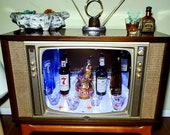 Mid Century 1960 39 s Hoffman TV Bar with Bluetooth and remote control LED lights