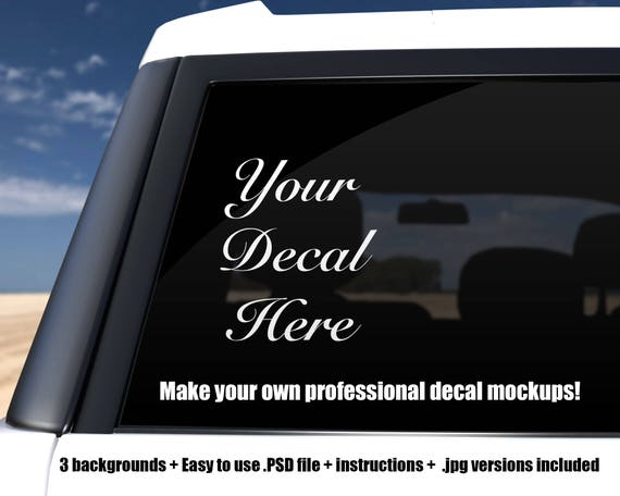 Car Decal Suv Mockup Template Photoshop Psd Png Jpg File Etsy
