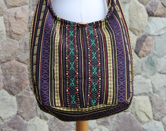 a4e5fc4d7e Woven Hippie Crossbody Bag zipper   Lined - Colorful Hobo bag Purse