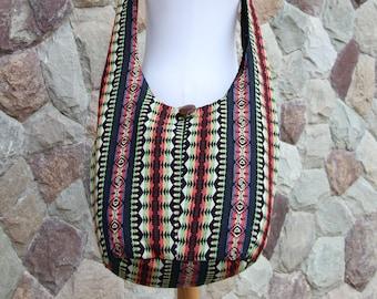 Unique Colorful Womens Hippie Crossbody Bag   Tribal Hobo Bag  Tribal Cross body bag    Cute Vegan Bag   Native inspired Shoulder bag
