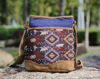 38bd272e7b7e Crossbody Boho Bag Hippie Chic Vintage style - Womens Messenger bag