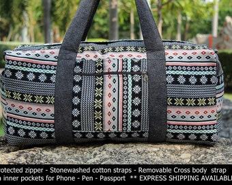 026cf46ebd Womens Weekender bag Native Southwestern Aztec Overnight bag - Tribal Weekend  Bag