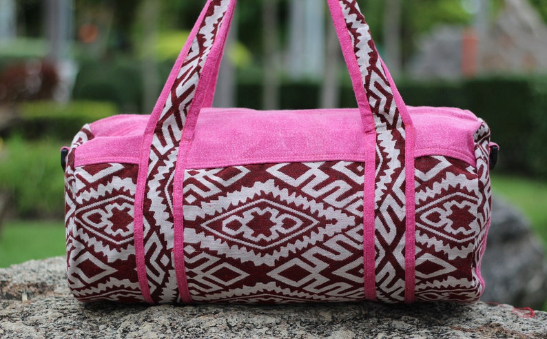 03fdc026e Small Duffle bag crossbody strap Tribal Boho Style Womens | Etsy