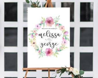 Printable Wedding Sign | Wedding Welcome Sign | Wedding decor | wedding decoration | Wedding Signage | Customised Wedding stationery |