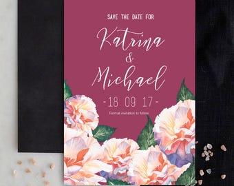 Wedding Invitation | Printable Wedding invitation | Wedding Suites | RSVP | Custom, Personalised Wedding Stationery | Floral Wedding suite