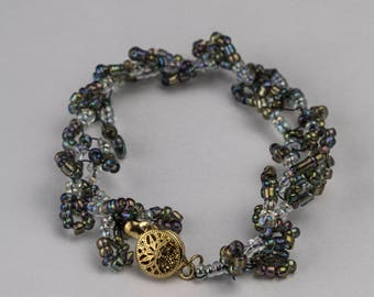 A unique gift from beads. Handmade jewelry, beaded bracelet,