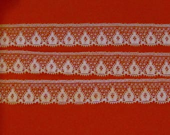Thin white lace flames 2 meters / 18mm
