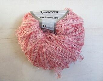 Wool ball knitting fancy twin mixed pink ringlets