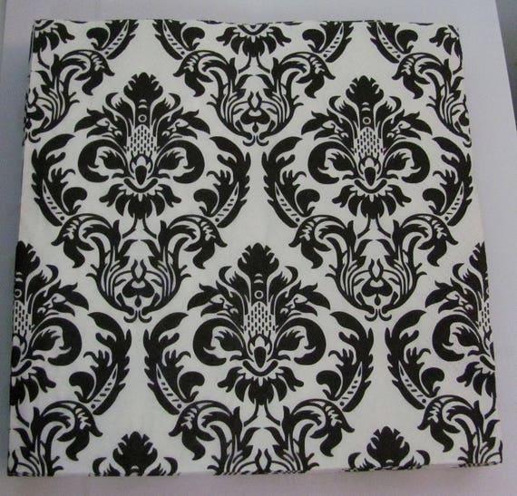 Schwarz / weiß Muster Papier Handtuch arabesque