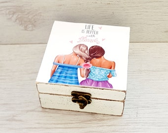 Birthday Gift For Best Friend Female Friendship Jewelry Box Women Present Iedas Sister Remembrance Friends