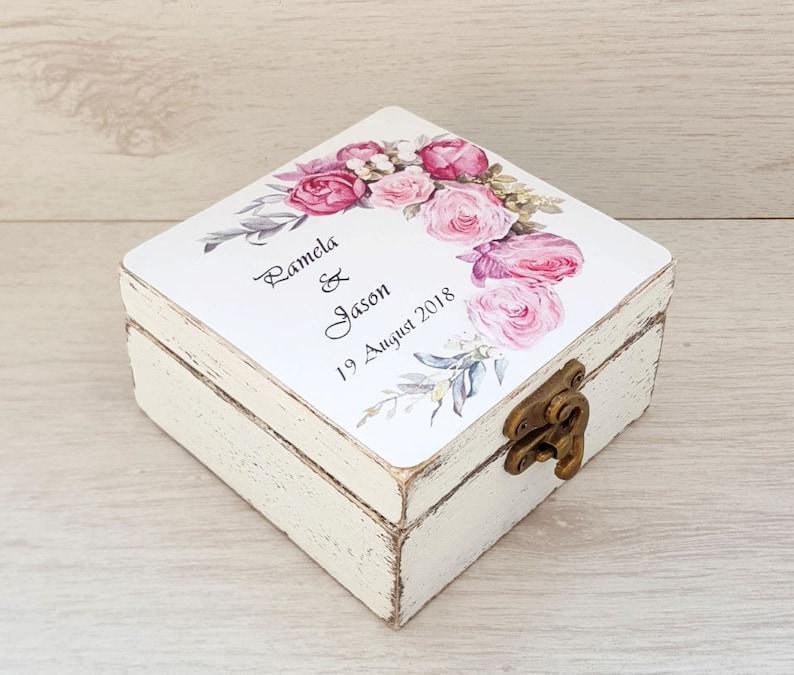 Rustic ring holder for wedding ceremony Wedding ring pillow Jewelry box EngagementProposal ring box wood Wedding ring bearer box
