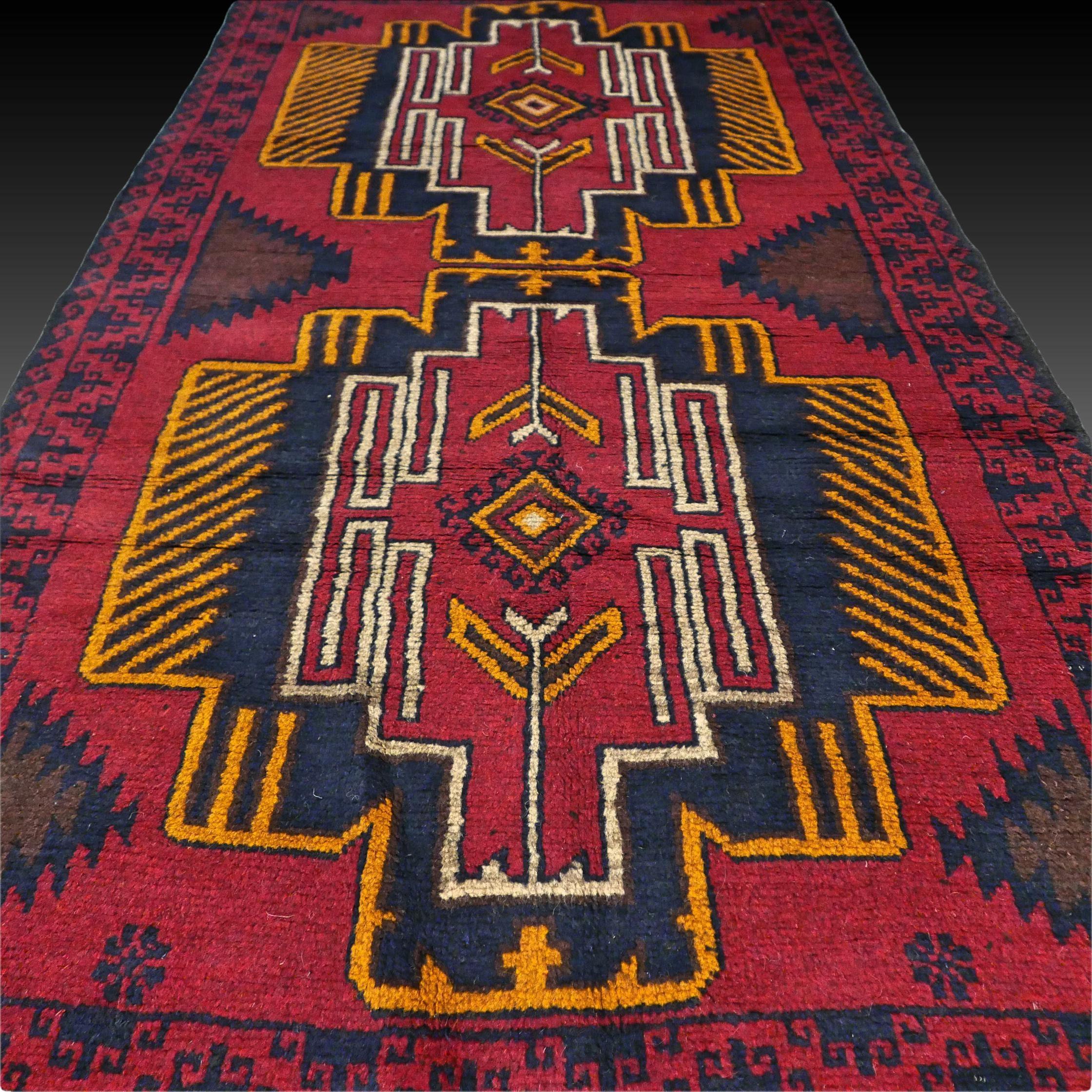 Retro Kazak Rug Tribal Nomad Rug Handmade Oushak Rug Vintage Persian Rug Oriental Boho Rug Art Deco Rug Etsy Rug Small Rug 6 2 X 3 5