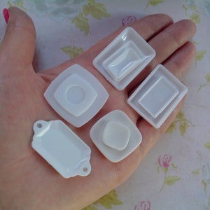 1:12 Molds for polymer clay and plastic. Silicone 3D-molds in the form of pialas of various shapes and sizes