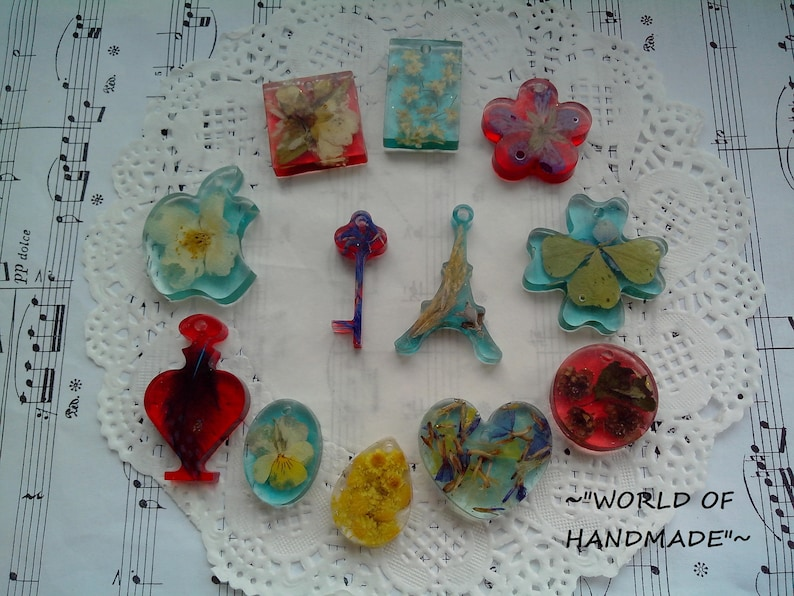Silicone molds of different shapes Molds for jewelry resin.