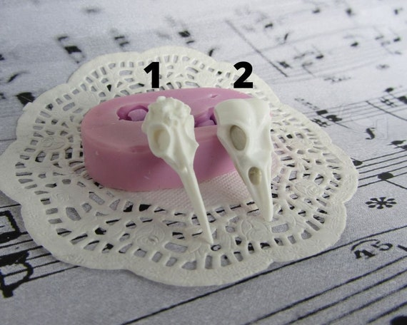 Silicone 3D-molds in the form of skulls of different shapes Molds for polymer clay and plastic.