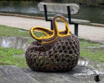 Crochet hobo bag,Crochet tote bag, Crochet market bag, Market bag, Crochet Shoulder Bag, Comfortable tote bag, Boho bag