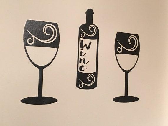 Mugs Art Card Craft Christmas Vinyl Decal Stickers For Wine Bottles Glass