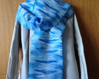 custom felted merino scarf, scarf, nunofelt scarf, felt scarf