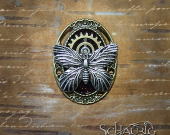 Steampunk brooch with Butterfly