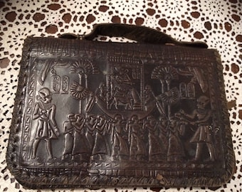Very old leather clutch