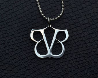 53e61544d25b49 Black Veil Brides Pendant BVB Stainless Steel Rock Jewelry Black Veil Brides  Necklace Black Veil Brides Symbol Logo BVB Merch