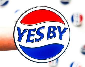 Yes By Newfoundland Soft Enamel Pin + Vinyl Sticker Decal / b'y st john's art jewelry accessory come from away crafts funny newfie