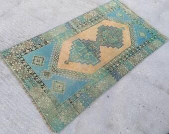 Vintage turkish oushak rug, handmade rug, area rugs, floor wool rug, turkish rug, oushak rug, vintage rug, handmade vintage rug, 3'3x5'9