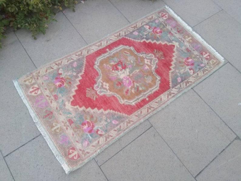 rugs small rugs 1/'7x3/'3 small turkish rug decorative small carpet Vintage small rug small oushak rug small rug handmade small rug