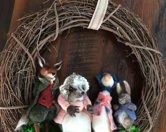 Peter Rabbit and Friends Wreath