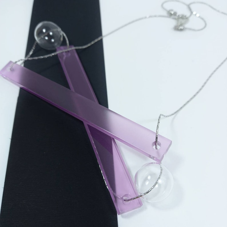 geometric necklace necklace for women colorful to be given for Mother/'s Day bright light Design lightweight glass necklace