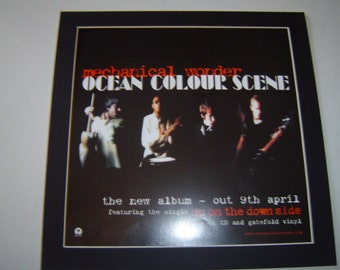 OCEAN COLOUR SCENE Marchin/' Already The Number One Album 1997 Music Press Poster Type Advert In Mount