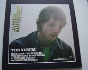 James Morrison Undiscovered    Original  Poster in A Custom Made Mount Ready To Frame