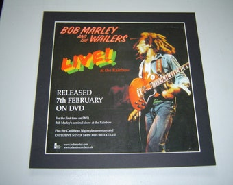 Bob Marley Live At The Rainbow  Original  Poster in A Custom Made Mount Ready To Frame