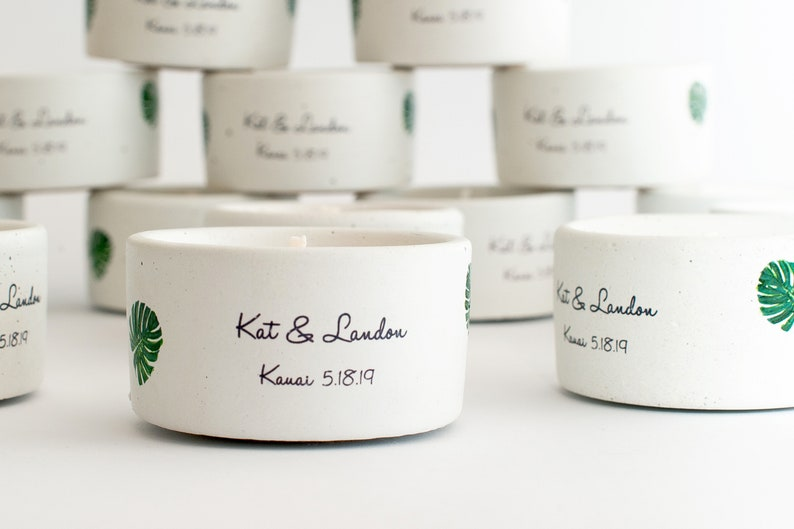 Concrete candles Custom candle Wedding Candles Wedding gift Personalized candle Wedding Favor|Gifts. Personalised Wedding Candle