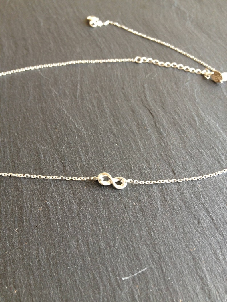small silver necklace infinity symbol