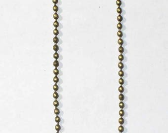 1 m ball chain bronze 1.5 mm ACCH136