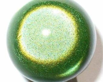 12 pearls 8mm Green magic, 3D effect