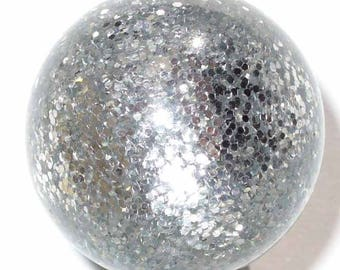 5 polaris paipolas grey glitter 5 beads 12mm beads