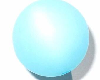 4 polaris 14 pearls 4 mm aquamarine beads