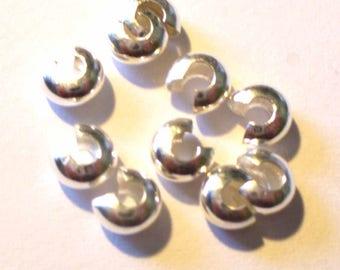 Silver beads to tighten 10 4mm (sachet) AC333