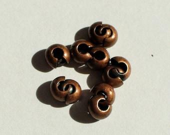 10 beads to tighten brass 4mm (sachet) AC363