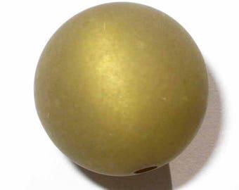 3 green khaki polaris 16 pearls 3 mm beads