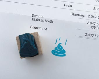 """Stamp """"That shit is steaming"""", rubber stamp"""