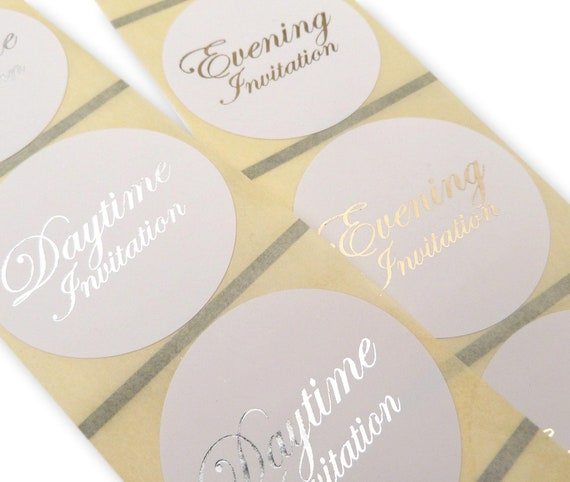 45MM WHITE ROUND PERSONALISED SILVER FOIL THANK YOU WEDDING LABELS STICKERS