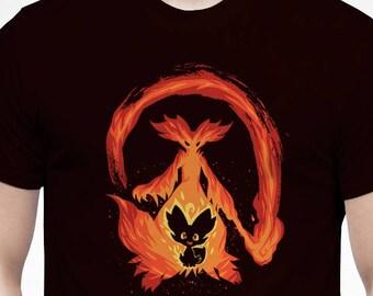 1ab83603 I Wanna be a Fire Mage - Delphox T-Shirt // pokemon Shirt // fennekin fire  fox Shirt // Video Game T-Shirt