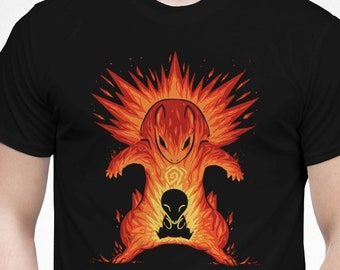 a1b6cc58 The Explosion Within - The Flames Evolve - Typhlosion T-Shirt // pokemon  Shirt // cyndaquil flames Shirt // Video Game T-Shirt