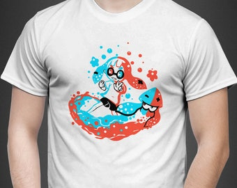Paint with Neon - Splatoon T-Shirt // Inkling paint Shirt // splat time squid Shirt // Video Game T-Shirt