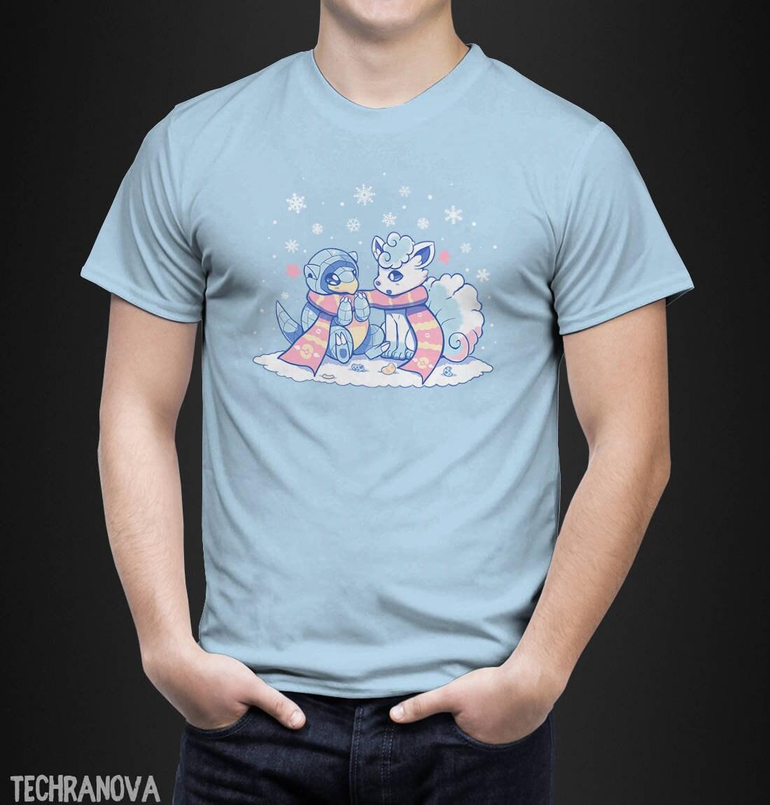 d6fe4fb4 Frosty Forms Vulpix Sandshrew T-Shirt // pokemon Shirt // | Etsy