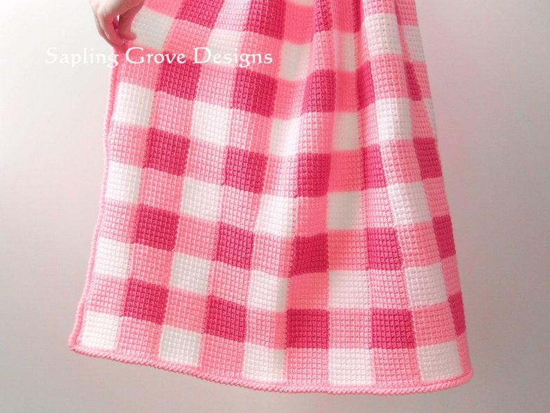 129e5c6f2f9 Little Magnolia Gingham Baby Blanket / 36x36 Receiving   Etsy