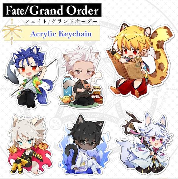 Fate Grand Order FGO Enkidu Gilgamesh Acrylic Keychain Keyring
